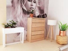 1:12 Lamp wooden legs 1 in White Natural Versatile Plastic