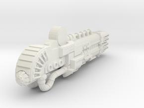 Titanicus Scaled Gun-Warlord Sunfury  in White Natural Versatile Plastic