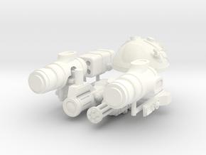 SPACE LEGION PULSE GUNNER in White Processed Versatile Plastic