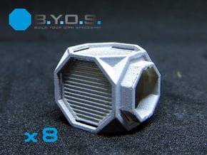 BYOS PART NANO CONTAINER RUGGED OCTA  in Smooth Fine Detail Plastic