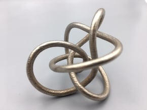 Steel Midway Perko Knot in Polished Bronzed-Silver Steel