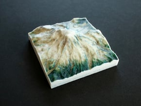 Mt. Rainier, Washington, USA, 1:150000 Explorer in Full Color Sandstone