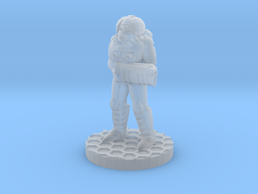Futuristic Firefighter (28mm Scale Miniature) in Smooth Fine Detail Plastic
