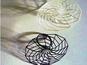 minimal surface catenoid 12 | ring P in White Processed Versatile Plastic