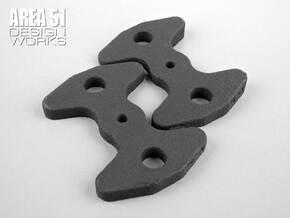 Wing Angle Shim Set in Black Natural Versatile Plastic