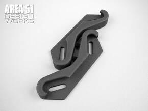 RC8B3 FT Graphite Shock Tower Cover in Black Natural Versatile Plastic