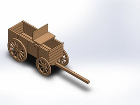 HO FREIGHT WAGON in White Natural Versatile Plastic