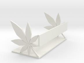 Hemp Leaf Bookshelf in White Natural Versatile Plastic
