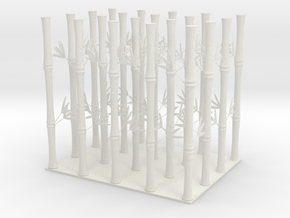 Bamboo Umbrella Stand in White Natural Versatile Plastic