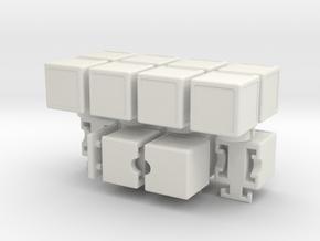 H-Cube in White Natural Versatile Plastic