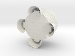 1:48 S-IC Thrust Structure Matt V4 in White Natural Versatile Plastic