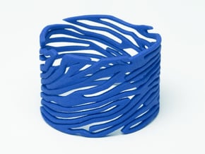 Bracelet Bluups ZEBRA in Blue Processed Versatile Plastic