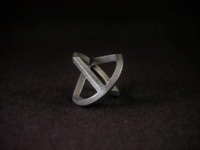 Sphericon Glatt in Polished Bronzed-Silver Steel