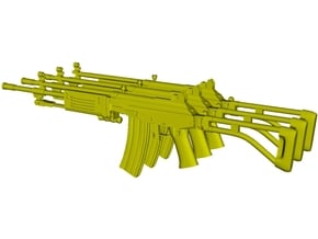 1/15 scale IMI Galil ARM rifles x 3 in Smooth Fine Detail Plastic
