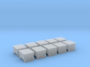 1/100 DKM Ammo Box 37mm Set x10 in Smooth Fine Detail Plastic