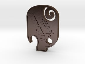 F#&%  Addiction PIG  in Polished Bronze Steel