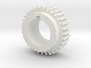 32T Atlas 618 Spindle Gear (M6-100-32) in White Natural Versatile Plastic