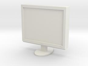 Printle Thing Monitor - 1/24 in White Natural Versatile Plastic
