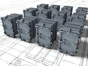 """1/200 Royal Navy 4.7"""" Ready Use Lockers (Small)x12 in Smoothest Fine Detail Plastic"""
