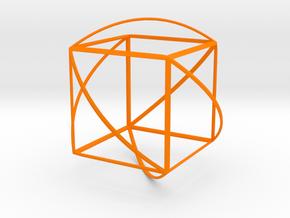 Walsh Cube in Orange Processed Versatile Plastic