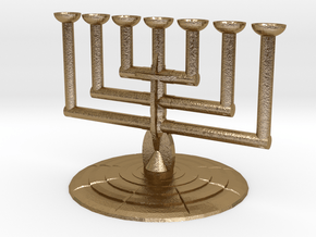 Lampstand in Polished Gold Steel