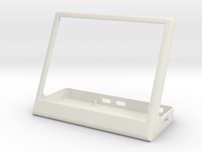 Base for pimoroni inky wHAT and raspberry pi  in White Natural Versatile Plastic