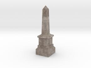 Miniature Stone Obelisk in Natural Full Color Sandstone
