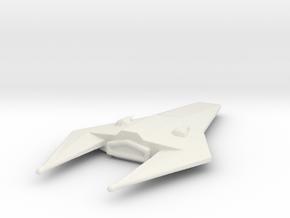 Valhalla spaceship in White Natural Versatile Plastic