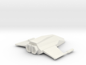 Spitfire spaceship in White Natural Versatile Plastic