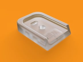 MJW Airsoft G-Series Custom Mag Base IPSC in Smooth Fine Detail Plastic