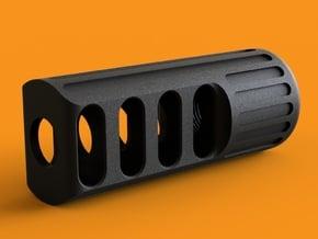 MJW Airsoft Compensator Type C in Black Natural Versatile Plastic