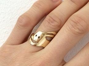 Run Rabbit Ring in 18K Gold Plated