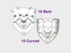 20x Iron Vigil - Bent & Convex Insignias Set in Smooth Fine Detail Plastic
