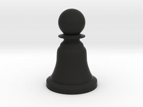 Pawn Black - Bell Series in Black Natural Versatile Plastic