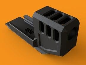 MJW Airsoft G17/18 Compensator V2 in Black Natural Versatile Plastic