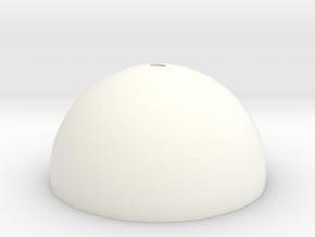 Micro SD Ball - Loop Top  in White Processed Versatile Plastic