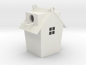 Birdhouse  in White Natural Versatile Plastic