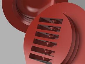 Micro SD Ball  -  String Top in White Processed Versatile Plastic