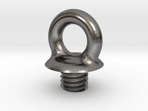 Micro SD Ball - Loop Screw in Polished Nickel Steel