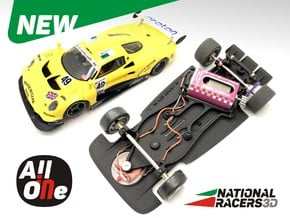 3D Chassis - Avant Slot Lotus Elise (Aw-AiO) in Black Natural Versatile Plastic