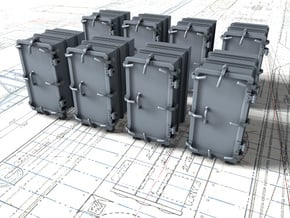 """1/144 Royal Navy 4.7"""" Ready Use Lockers (Med) x8 in Smoothest Fine Detail Plastic"""