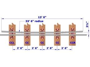 13ft Check Rails - 8 in White Natural Versatile Plastic