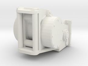 1/25th Logging bulldozer winch  2 in White Natural Versatile Plastic