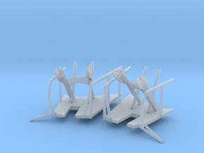 1/96 Bismarck Crane Storage Brackets Set in Smooth Fine Detail Plastic