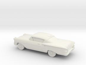 1/43 1958  Chevrolet Impala Coupe in White Natural Versatile Plastic