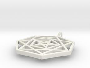 HeptaPenta Amulet in White Natural Versatile Plastic