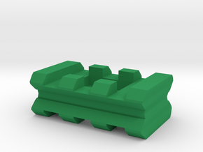 """Back-to-Back Weaver Rails Adapter (3 Slots 0.5"""" To in Green Processed Versatile Plastic"""