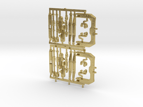 (2) GREEN 3 POINT CAT 3/4N  HITCH KITS - BR in Natural Brass
