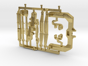 (1) GREEN 3 POINT CAT 3/4N  HITCH KITS - BR in Natural Brass