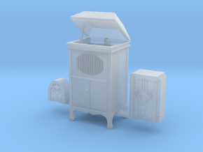 O scale radios phonographs in Smoothest Fine Detail Plastic